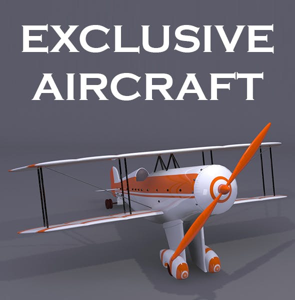Plane 3D Model - 3DOcean Item for Sale