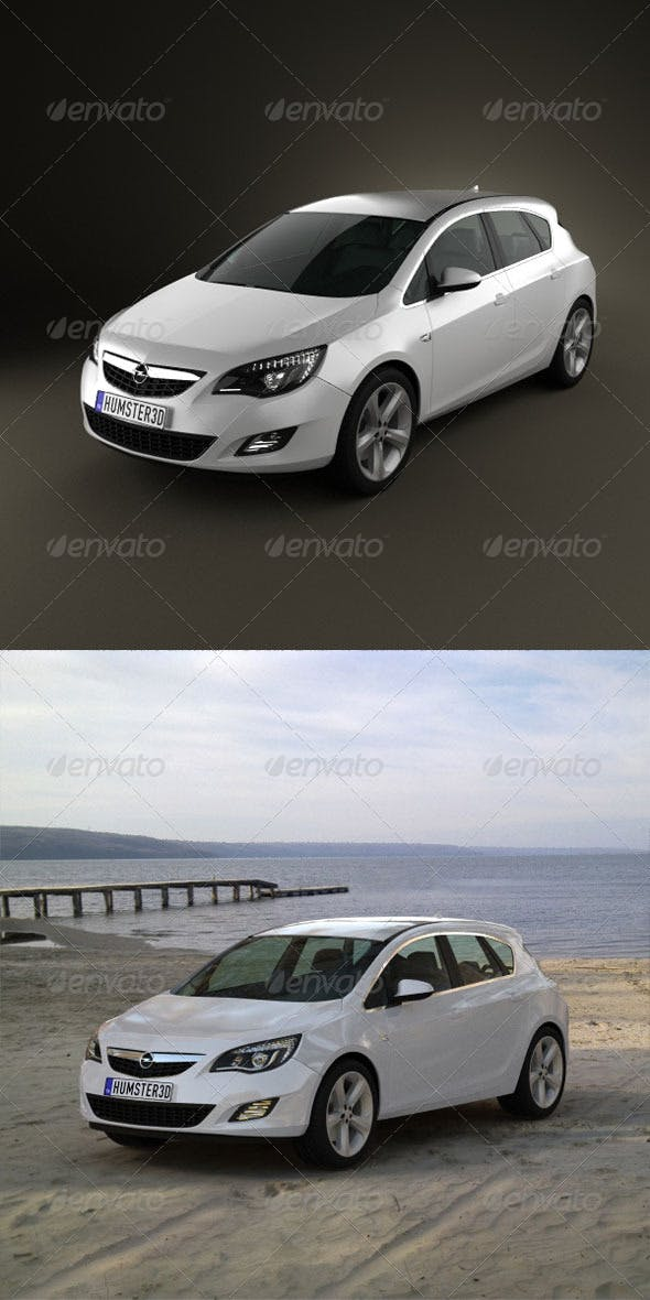Opel Astra 2011  - 3DOcean Item for Sale