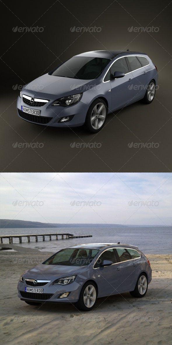 Opel Astra Tourer 2011  - 3DOcean Item for Sale