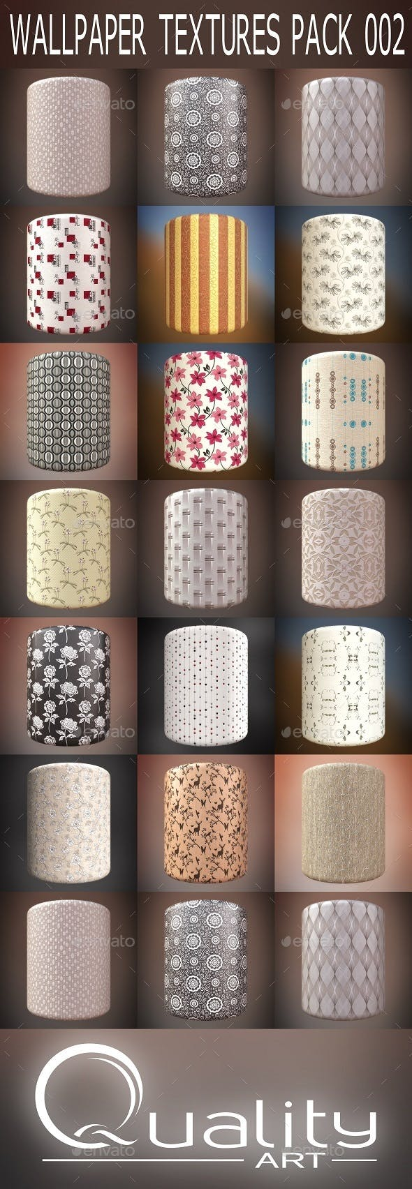Wallpaper Textures Pack 002 - 3DOcean Item for Sale