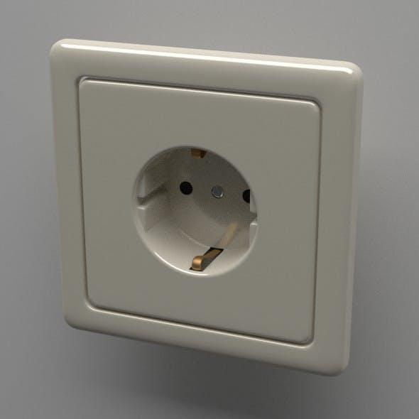 Schuko Socket - 3DOcean Item for Sale