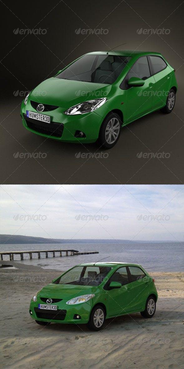 Mazda 2 5door 2010  - 3DOcean Item for Sale