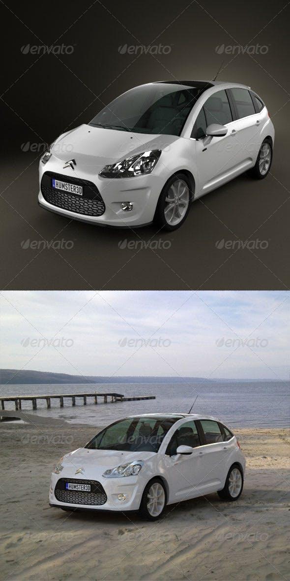 Citroen C3 2010  - 3DOcean Item for Sale