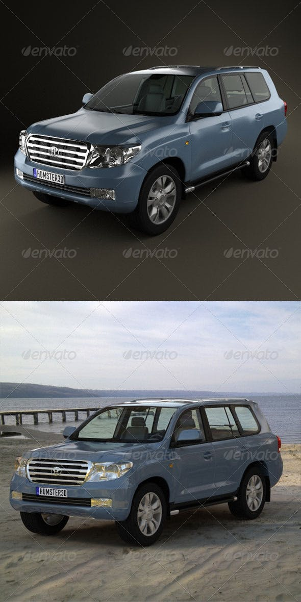 Toyota Land Cruiser 200  - 3DOcean Item for Sale