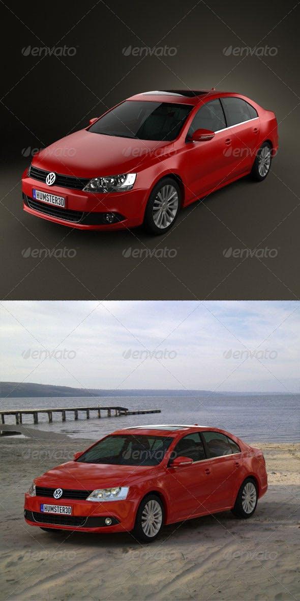 Volkswagen Jetta 2011  - 3DOcean Item for Sale