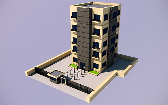 Low Poly Apartment (Ready to Render) - 3DOcean Item for Sale
