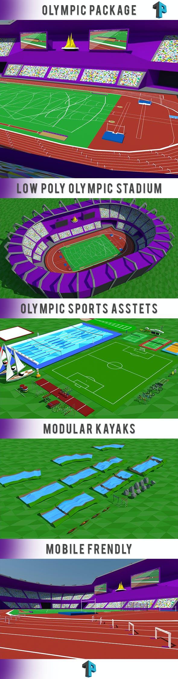 Olimpic Games - Ultimate Sport Pack - 3DOcean Item for Sale