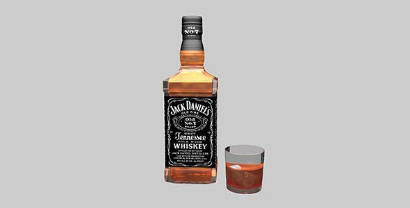 Jack Daniels, Whiskey   - 3DOcean Item for Sale