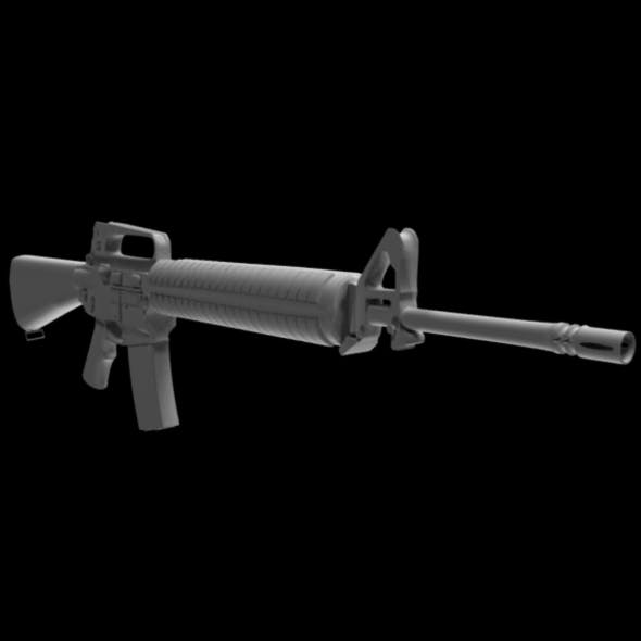 M-16 - 3DOcean Item for Sale