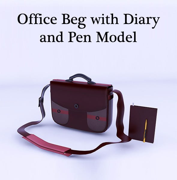 Office Beg with Diary and Pen - 3DOcean Item for Sale