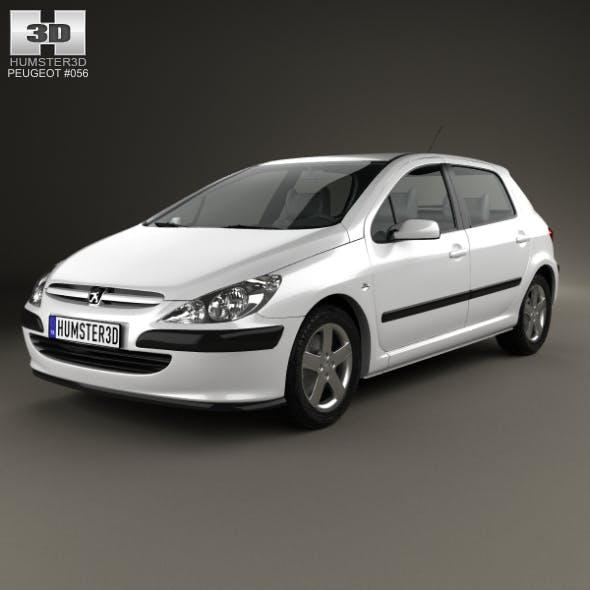 Peugeot 307 5-door hatchback 2001 - 3DOcean Item for Sale
