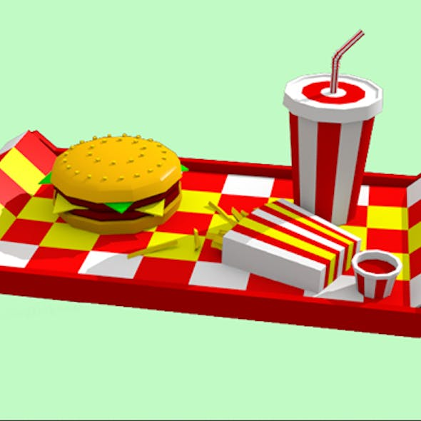 Low poly FastFood