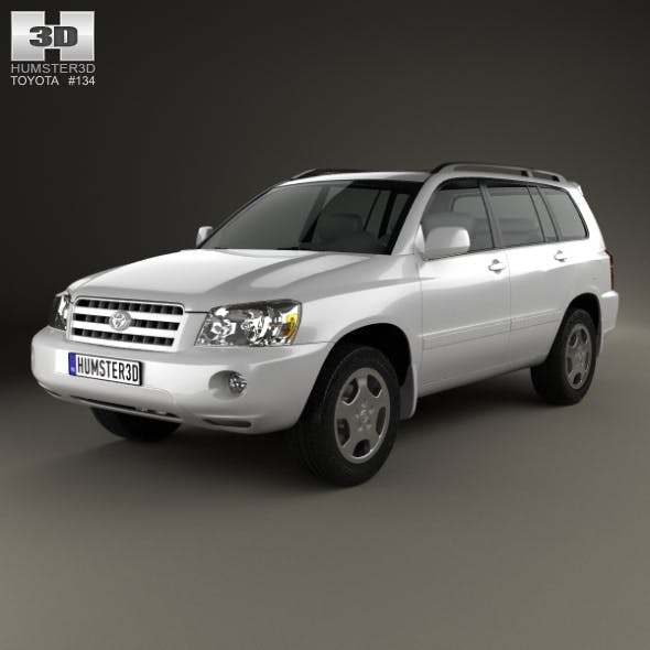 Toyota Highlander (XU20) 2003 - 3DOcean Item for Sale