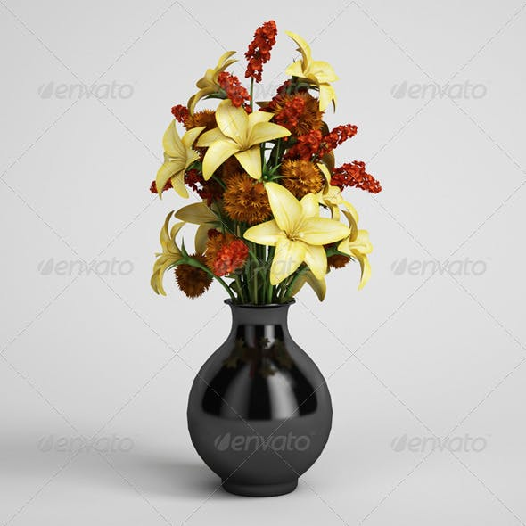 CGAxis Flower Bouquet in Vase 07