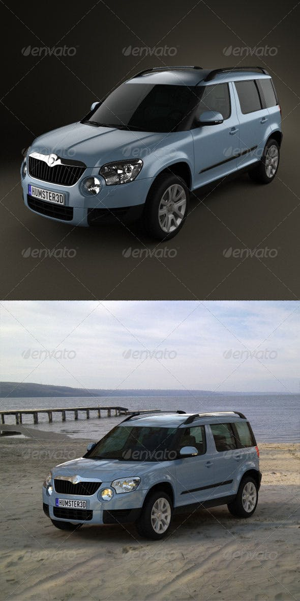Skoda Yeti 2010  - 3DOcean Item for Sale
