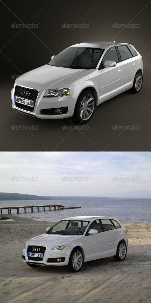 Audi A3 Sportback 2011  - 3DOcean Item for Sale