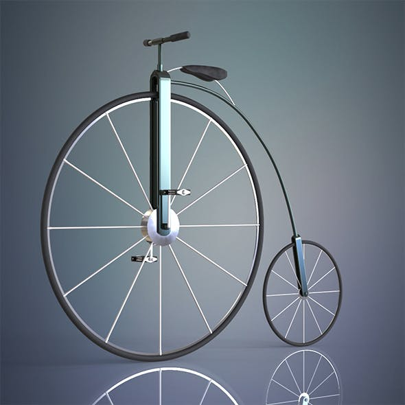 Penny farthing bicycle - 3DOcean Item for Sale