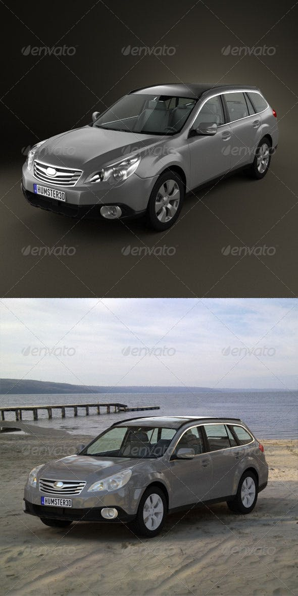 Subaru Outback 2010  - 3DOcean Item for Sale