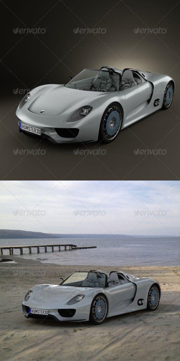 Porsche 918 spyder 2011  - 3DOcean Item for Sale