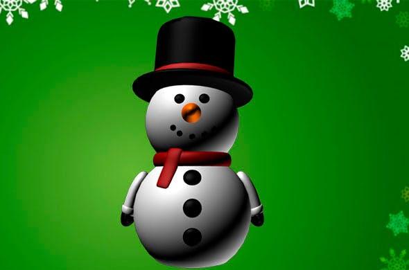 Cartoon Snowman - 3DOcean Item for Sale