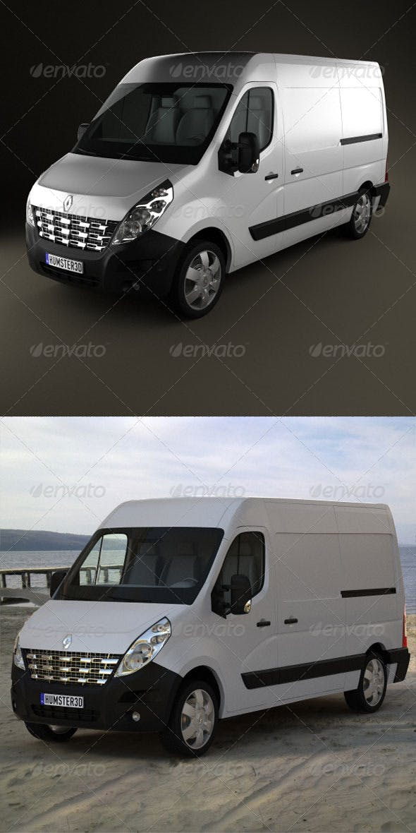 Renault Master PanelVan 2010  - 3DOcean Item for Sale