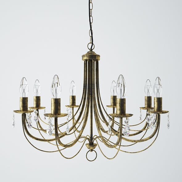 Vitaluce V1253/8 Chandelier - 3DOcean Item for Sale