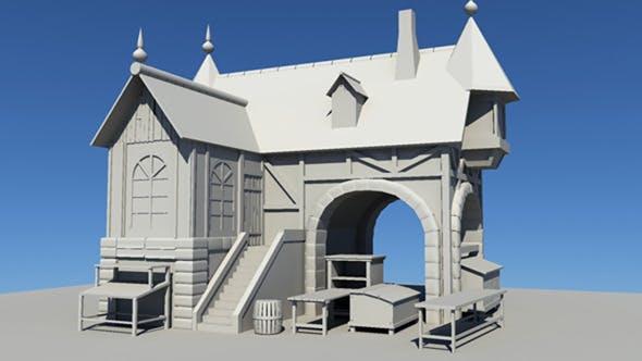 Basic 3d house - 3DOcean Item for Sale