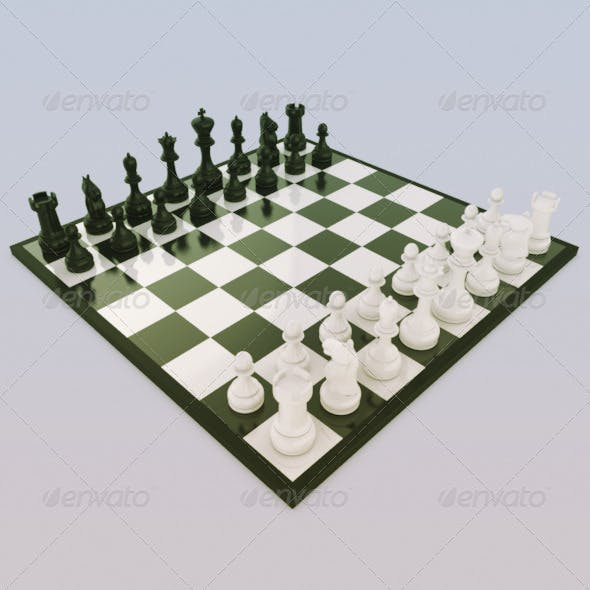 Chess Set - 3DOcean Item for Sale