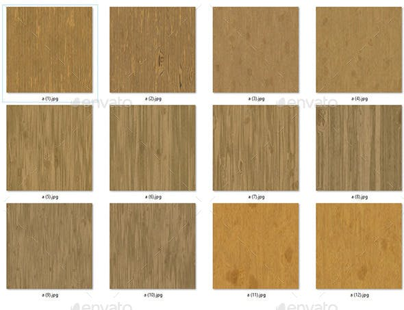 12 seamless wood texture - 3DOcean Item for Sale