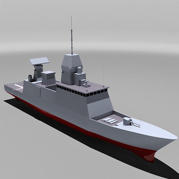 Stealth Fregate  - 3DOcean Item for Sale