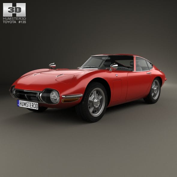 Toyota 2000GT 1967 - 3DOcean Item for Sale