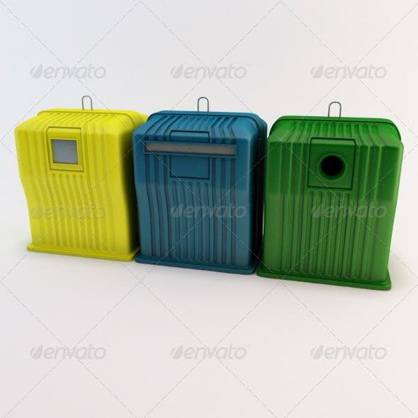 Recycle Bins - 3DOcean Item for Sale