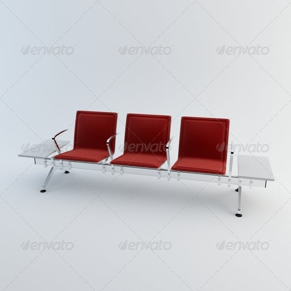 Waiting Chairs - 3DOcean Item for Sale