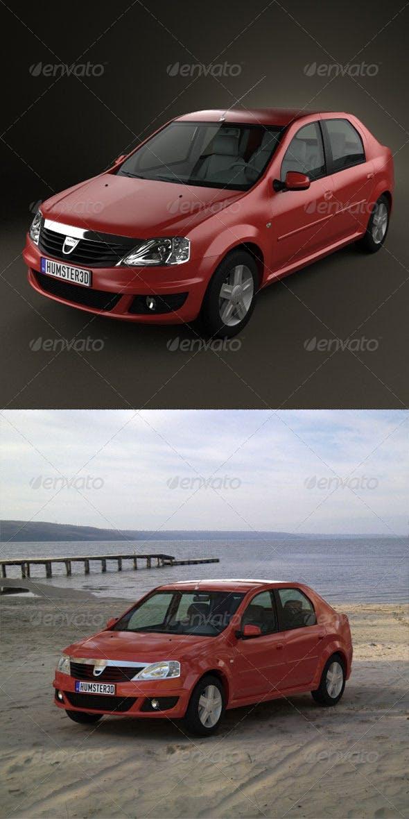 Renault Dacia Logan 2010  - 3DOcean Item for Sale