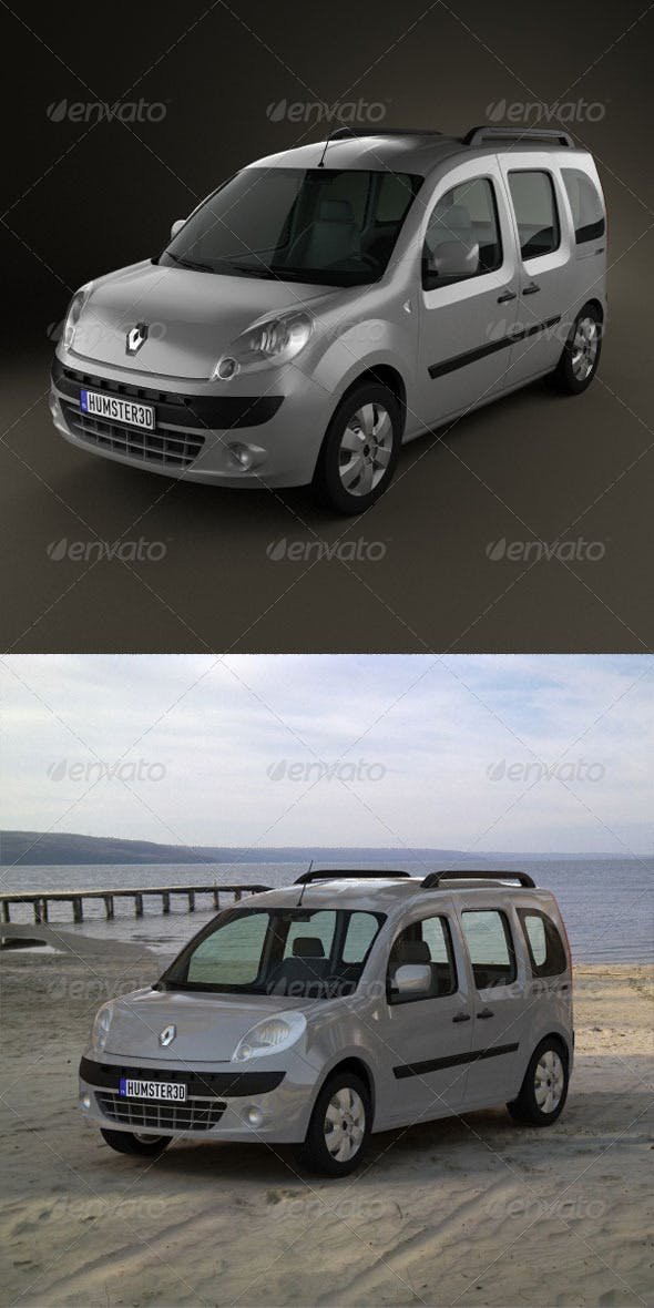 Renault Kangoo 2010  - 3DOcean Item for Sale