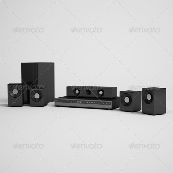 CGAxis Home Theater Electronics 06