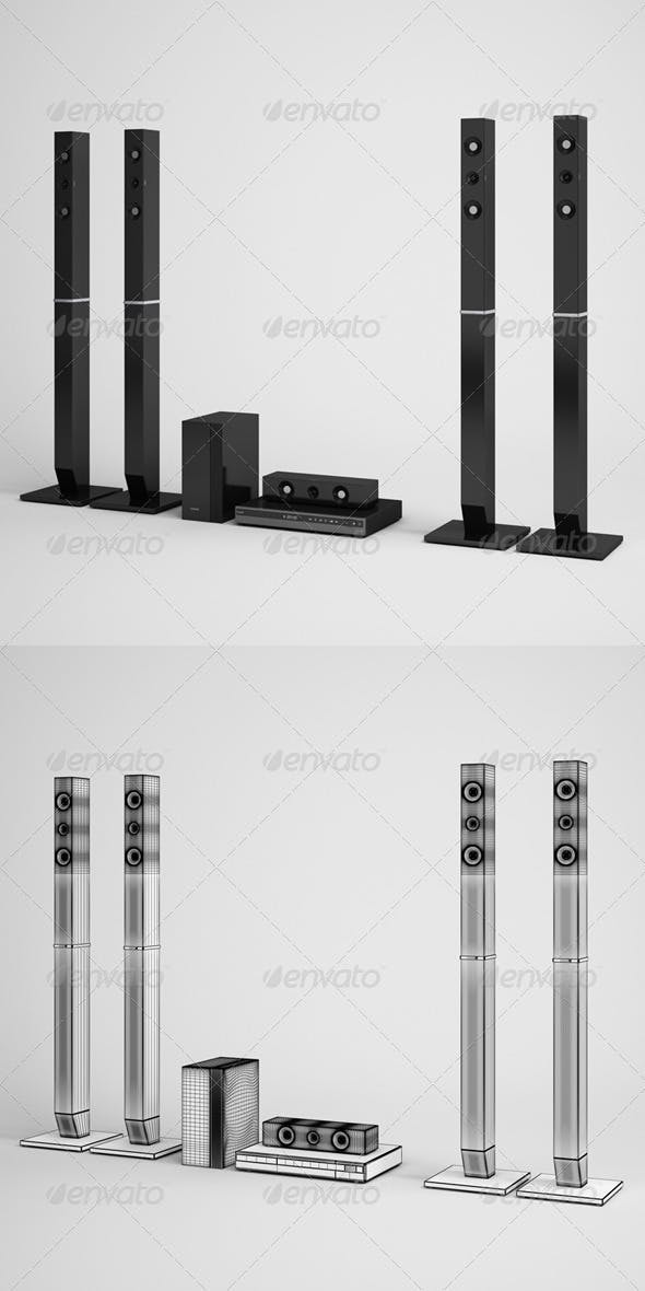 CGAxis Home Theater Speakers Electronics 07 - 3DOcean Item for Sale