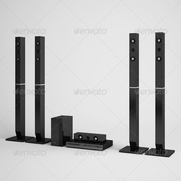 CGAxis Home Theater Speakers Electronics 07