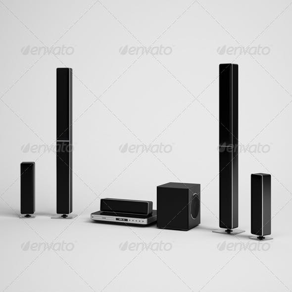 CGAxis Home Theater Electronics 10