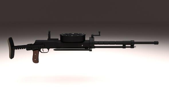 Degtyaryov DT Machine Gun - 3DOcean Item for Sale