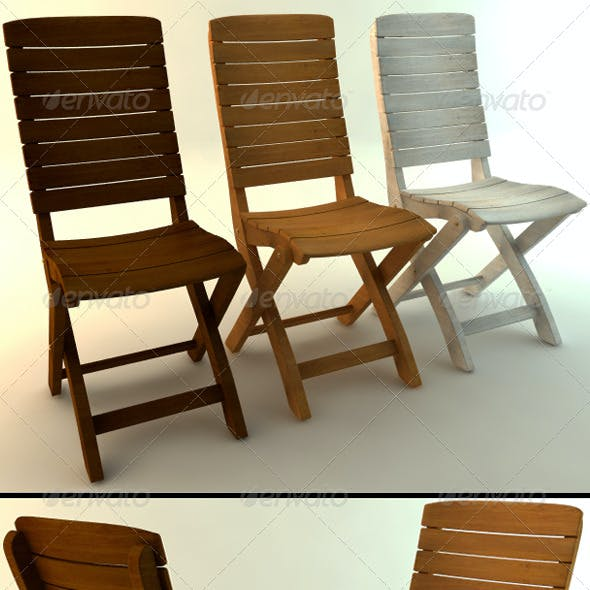 Wooden Chair in Three Colors