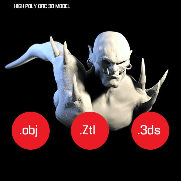 HIGH POLY ORC 3D MODEL