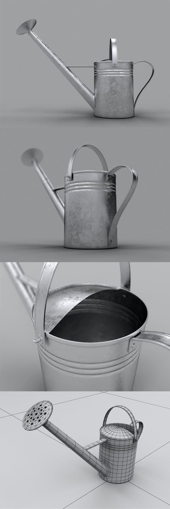 Realistic Watering Can - 3DOcean Item for Sale