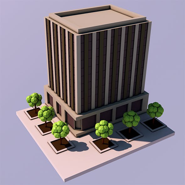 Low Poly Office - 3 (Ready to Render)