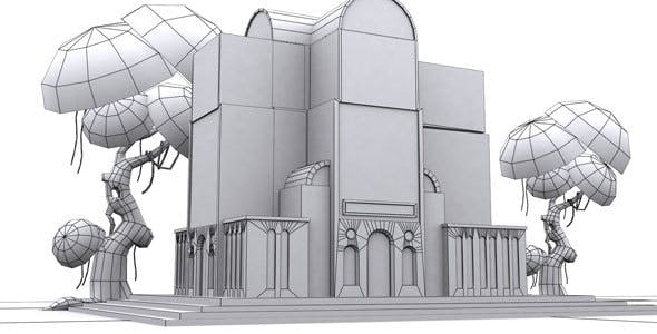 Low Poly Arch Building - 3DOcean Item for Sale