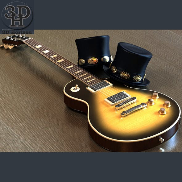 Slash Les Paul Guitar & Top Hat - 3DOcean Item for Sale