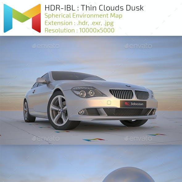 HDR IBL : Thin Swirl Clouds Dusk