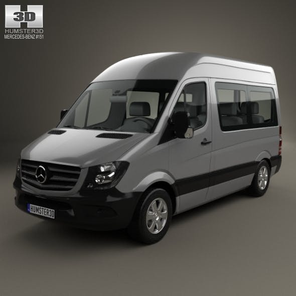 Mercedes-Benz Sprinter Passenger Van CWB HR 2013 - 3DOcean Item for Sale
