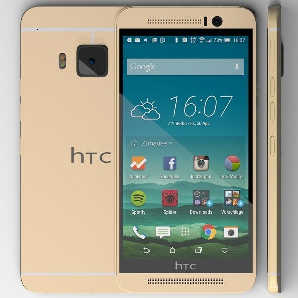 HTC one M9 gold - 3DOcean Item for Sale