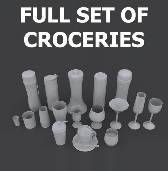 Set of Croceries - 3DOcean Item for Sale